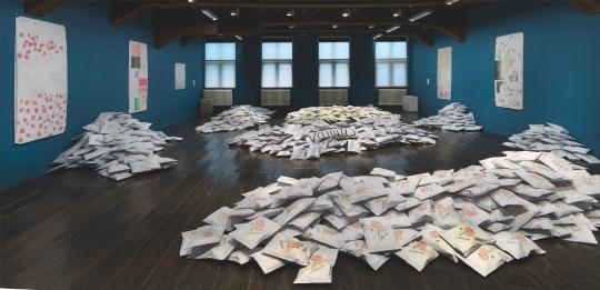 Evelyn Taocheng Wang, solotentoonstelling Allegory of Transcience, De Hallen Haarlem, 2017. Foto: Gert Jan van Rooij