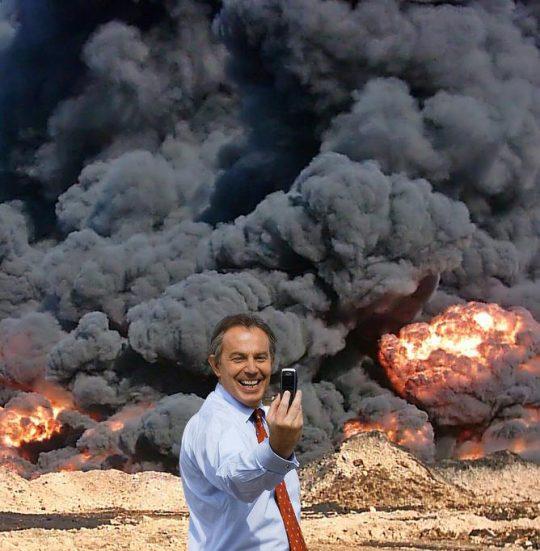 Peter Kennard, BLAIR IN IRAQ (2006)